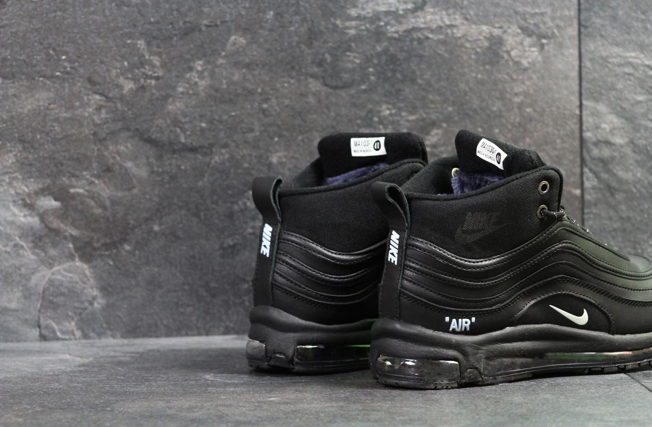 bb56894b Мужские зимние кроссовки Nike 97 теплые высокие качественные найки в черном  цвете, ТОП-реплика, цена 1 299 грн., купить в Киеве — Prom.ua (ID#827750779)