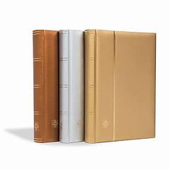 """Альбом для марок (кляссер) COMFORT """"Metallic Edition"""" с 32 листами из черного картона, мягкая обложка, А4, цвет золото"""
