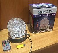 Светодиодный диско-шар LED Magic Ball 6 MP3 Bluetooth