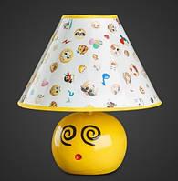 Детская настольная лампа Смайлики AR-004627 керамика, фото 1