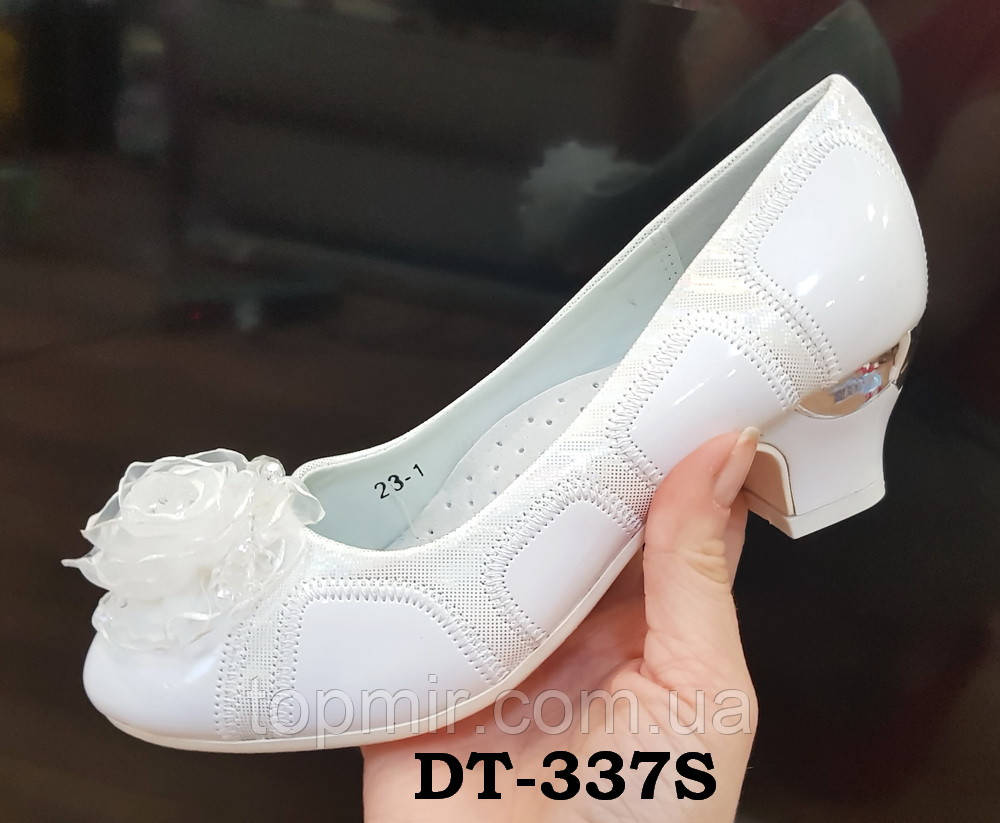7be86a6bd Туфли белые на каблуке детские, 35 р - 22,3 см: продажа, цена в ...