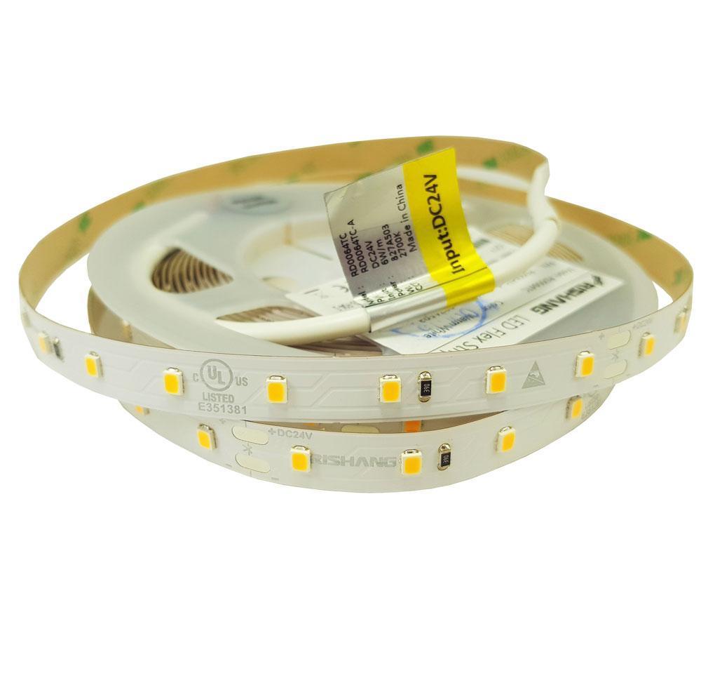 Светодиодная лента 2835-64-IP20-WW-10-24-80 (3000K)
