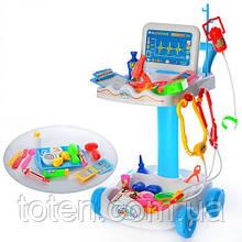 Детский игровой набор Доктор с тележкой на 36 предметов  606-1-5 Синий