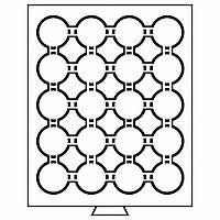 Бокс Leuchtturm для монет (диаметр ячейки 41 мм), для 5 грн. НБУ нейзильбер