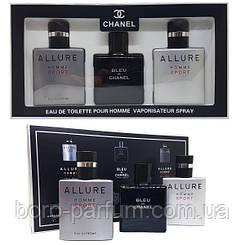 Мужской подарочный набор Chanel Eau de Toilette ( 3 по 25мл )