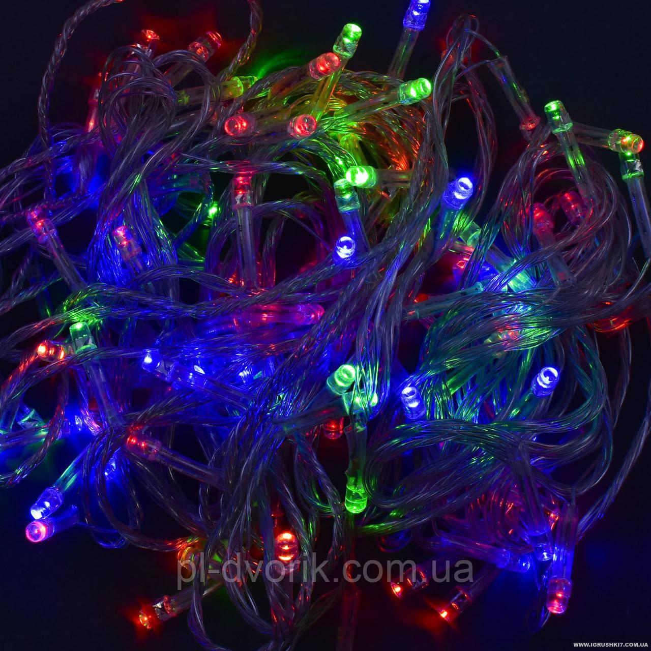 Гирлянда светодиодная С 31321 100 лампочек, длина 9.5 метра, мультиколор Длина:12 см Ширина:6 см Высота:7 с