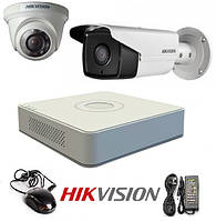 Комплект видеонаблюдения HIKVISION на 2 камеры