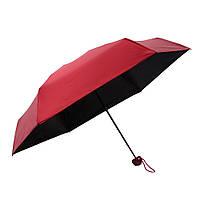 Зонт складной SUNROZ Pill Box Umbrella универсальный карманный мини зонтик в футляре капсула Красный (SUN1296), фото 1