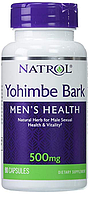 Йохимбе экстракт, Natrol, Yohimbe Bark, 500 mg