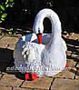 Садовая фигура Лебеди кашпо, фото 5