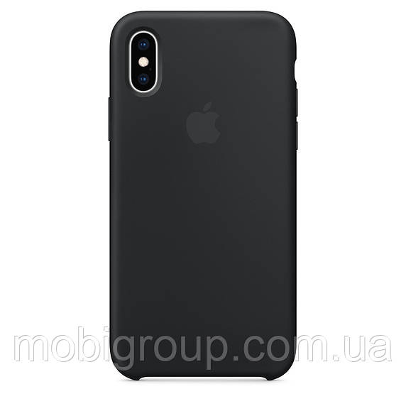 Чехол Silicone Case для iPhone XS, Black