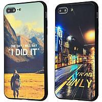 Чехол Glass case My design для Apple iPhone 7 Plus /8 Plus (2 вида), фото 1