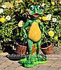 Садовая фигура подставка для цветов Лягушка с тачкой, Лягушка с ведрами и Лягушка с корзиной, фото 2