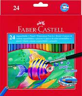 Набор акварельных карандашей Faber Castell 24 цвета картонная коробка