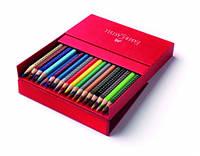 Набор акварельных карандашей Faber Castell 36 цветов GRIP ТРЕХГРАННЫЕ В ПОДАРОЧНОЙ КОРОБКЕ