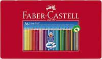 Набор акварельных карандашей Faber Castell 36 цветов GRIP ТРЕХГРАННЫЕ В МЕТАЛЛ.КОРОБКЕ