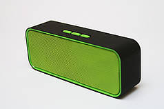Портативная Bluetooth колонка Noisy SC311 MP3 Black-Green (1104)