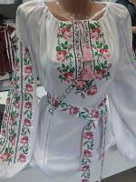 Блузка вышиванка Трояндочки 1білС2СкРо 64