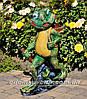 Садовая фигура подставка для цветов Лягушка с тачкой, Лягушка с ведрами и Лягушка с корзиной, фото 4