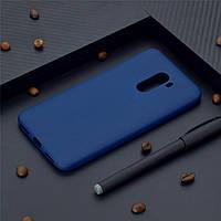 Чехол для Xiaomi Pocophone F1 силикон soft touch бампер темно-синий