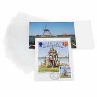 Зашитные обложки для открыток до 150*107 мм, полипропелен