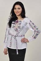 Блузка вышиванка Трояндочки 1білС2Ск9 64