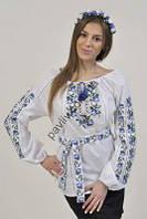 Блузка вышиванка Трояндочки 1білС2Ск2 64