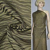 Шовк блузочний жакардовий болотний ш.88 (15202.039)
