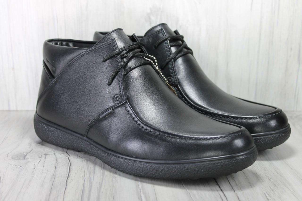176f44cba0e7 Bertoni зимние мужские ботинки натуральная кожа на цигейке комфорт ...