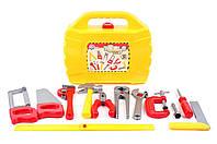 Детский набор инструментов в чемодане, 12 предметов