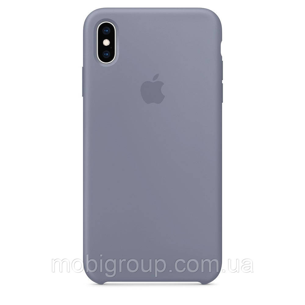 Чехол Silicone Case для iPhone XS, Lavender Grey