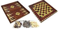 """Гра настільна """"Шахи"""" 2 в 1 """"OOPT""""+ нарди W5001D в дерев коробці 8258429818160"""