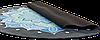 Коврик для фитнеса и йоги круглый с сумкой Record замша двухслойный 3мм синий