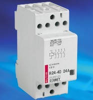 Контактор модульный на DIN-рейку R24-40, 24А, модульный пускатель eltis, econet