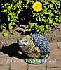 Садовая фигура Пенек с ежиком, Еж сидячий и Пенек березовый подставка для цветов, фото 3
