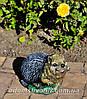 Садовая фигура Пенек с ежиком, Еж сидячий и Пенек березовый подставка для цветов, фото 4