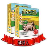 Средство для выращивания на подстилке, бактерии для переработки навоза БИОХЛЕВ 500 г.