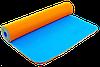 Коврик для фитнеса и йоги Zelart TPE двухслойный 6 мм оранжево-синий