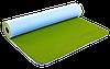 Коврик для фитнеса и йоги Zelart TPE двухслойный 6 мм голубо-оливковый