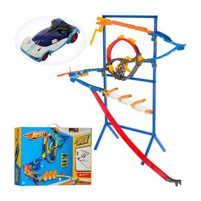 Детский настенный трек ML32461 на стойке аналог Hot Wheels