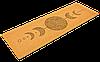 """Коврик для йоги пробковый каучуковый Record двухслойный 4мм """"Лунный Цикл"""""""