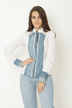 Рубашка Lady Mex 36 белый (BS-9015_White)