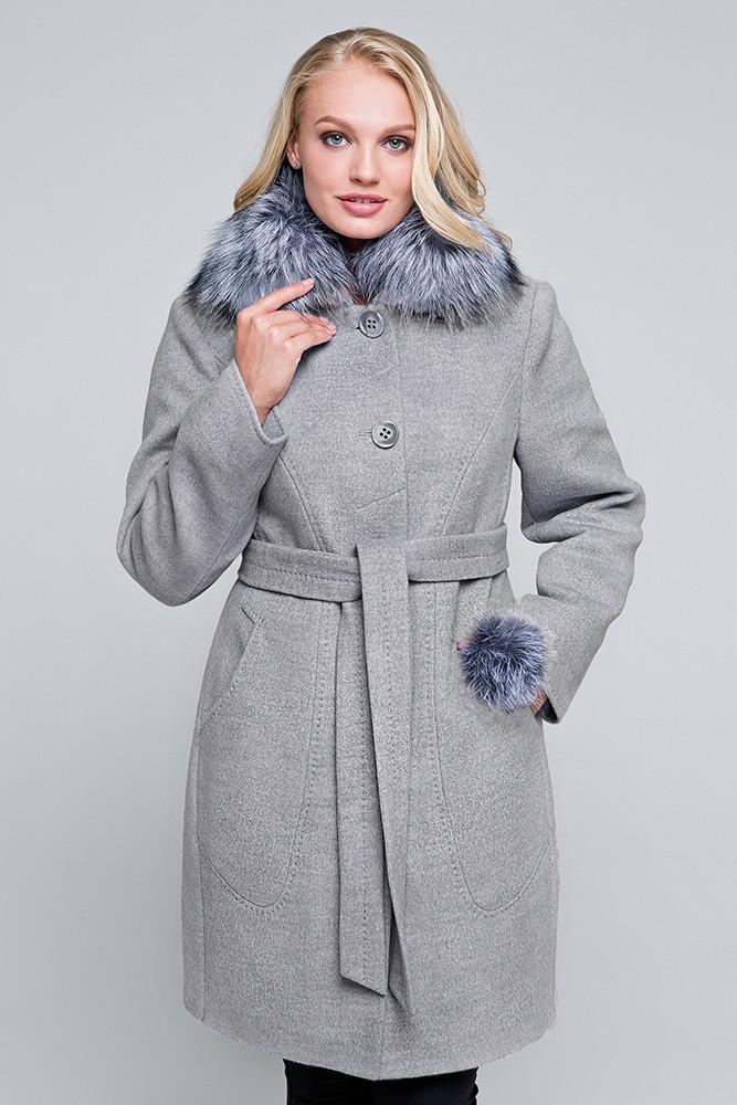 Купить Зимнее пальто «надин» серое оптом и в розницу в Харькове от ... 4b15dec3019f3