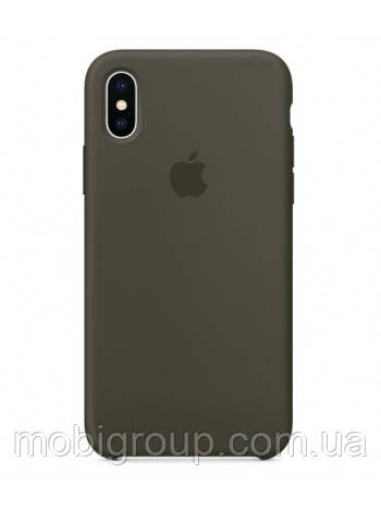 Чехол Silicone Case для iPhone X, Dark Grey