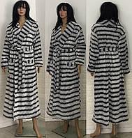 Махровый халат большого размера на запах 52-58 р, женские халаты большого размера оптом от производителя