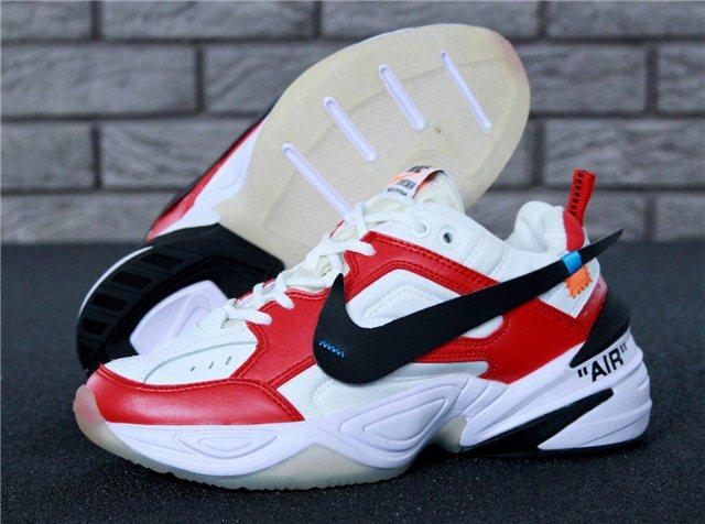 Кроссовки мужские Nike M2K Tekno x Off-White 30968 красно-белые