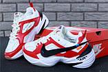Кроссовки мужские Nike M2K Tekno x Off-White 30968 красно-белые, фото 2