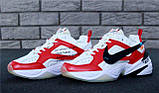 Кроссовки мужские Nike M2K Tekno x Off-White 30968 красно-белые, фото 4
