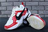 Кроссовки мужские Nike M2K Tekno x Off-White 30968 красно-белые, фото 7
