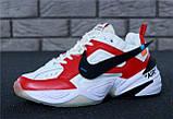Кроссовки мужские Nike M2K Tekno x Off-White 30968 красно-белые, фото 8